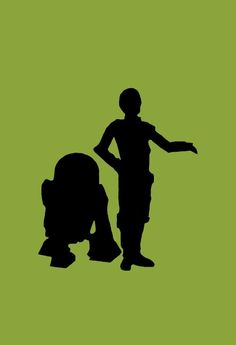 r2d2 and c3po silhouette - Google Search