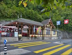 . The nice BRB station in Brienz pictured on September 30th, 2013.