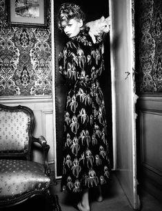 Hollie May Saker by Ellen von Unwerth for Vogue Russia April 2016 - Miu Miu Spring 2016