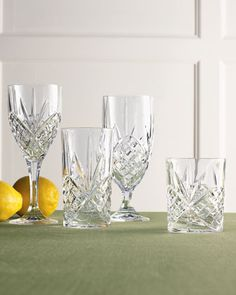 """Dublin"" Crystal Glassware at Horchow."