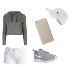 """😘💎💙"" by love-emilyyyy on Polyvore featuring Barbour International, NIKE and Topshop"