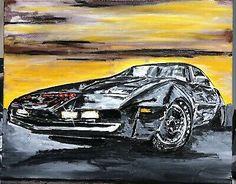 """Knight Rider"", #michaelscottwoodcock Art Original Oil Painting Canvas | eBay"