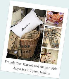 Advert for French Flea Market & Artisan Fair, IN