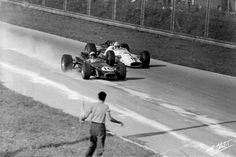 Jack Brabham, Brabham BT20-Repco, #16 (finished 2nd) John Surtees, Honda RA300, #14 (finished 1st) Italian Grand Prix was a F1 race held at the Autodromo Nazionale Monza on September 10, 1967.