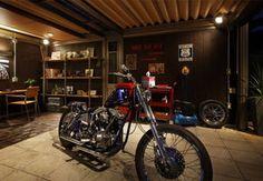 バイクガレージの画像集(DIY 自作 作り方 車庫 手作り ハーレー 賃貸 コンテナ 簡易 単管 - NAVER まとめ