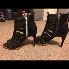 Leather heels Leather strapped heels (open toed) strapped up to ankles Dolce Vita Shoes Heels