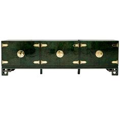 Malachite Inspired Triple Cabinet Credenza by Mastercraft