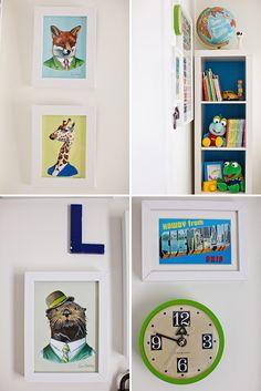 Locke's Colorful and Modern Nursery - On to Baby - animal illustrations Ryan Berkeley