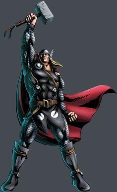 Thor by Shinkiro #Marvel #Mjolnir