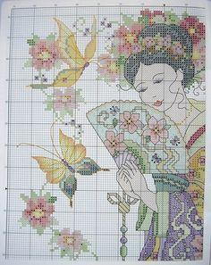 Cross Stitch - Japanese Woman 2/2.
