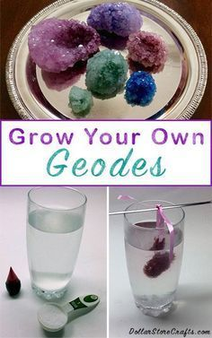 DIY geodes science experiments - the results are amazing...Keep this one handy…