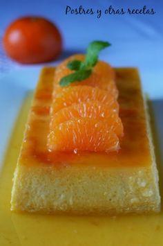 Postres y otras recetas: Flan de mandarina