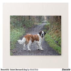 Shop Beautiful Saint Bernard dog Jigsaw Puzzle created by HalzTalz. Pet Dogs, Dogs And Puppies, Mountain Dogs, Bernese Mountain, St Bernard Dogs, Teacup Chihuahua, Bull Terrier Dog, Labrador Retriever Dog, Elephant Gifts