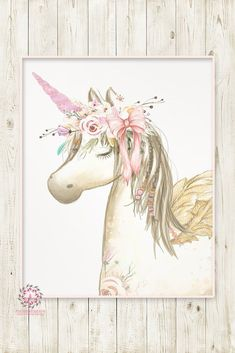 Boho Blush Unicorn Pegasus Wall Art Print Baby Girl Nursery Ethereal Fantasy Watercolor Room Printable Decor Kids Room Wall Art, Nursery Wall Art, Girl Nursery, Nursery Room, Unicorn Painting, Unicorn Wall Art, Baby Prints, Wall Art Prints, Image Deco