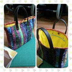 Batik quilt totebag