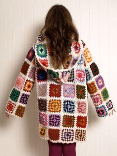 Vintage 70s wool crochet granny square by KitschBitschVintage, $187.00