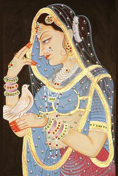 Mughal painting is a particular style of South Asian painting, generally confined to miniatures either as book illustrations or as single work, which emerged from Persian miniature painting, with Indian Art Traditional, Modern Indian Art, Indian Folk Art, Indian Artist, American Indian Art, Mughal Miniature Paintings, Mughal Paintings, Tanjore Painting, Indian Art Paintings