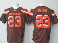 """$23.88 at """"MaryJersey""""(maryjerseyelway@gmail.com) Nike Browns 23 Joe Haden Brown Team Color Men Stitched NFL New Elite Jersey"""