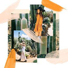 Orange and green brand colors - mood board full of desert bohemian vibes Collage Design, Collage Art, Collages, Fashion Collage, Poster S, Portfolio, Photomontage, Magazine Design, Mood Boards