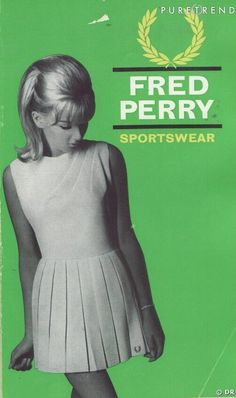 Fred Perry Sportswear. 60s summer style. Vintage tennis.