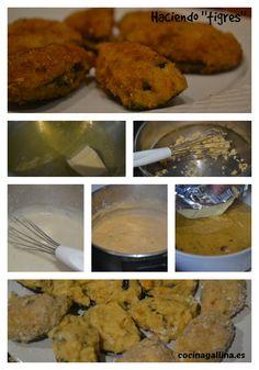 Hacemos tigres, mejillones rellenos o croquetas de mejillón en su concha. Un aperitivo irresistible. http://cocinagallina.es/como-hacer-tigres/