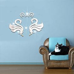 $29.84  - Buggy Wall stickers 3D acrylic mirror wall home decor mirror stickers DIY Gold -- You can get additional details at the image link. (This is an affiliate link) #WallStickersMurals