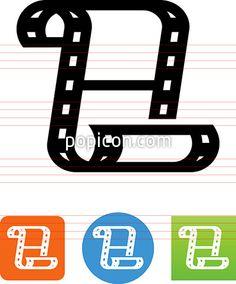 Filmstrip Icon - Illustration from Popicon