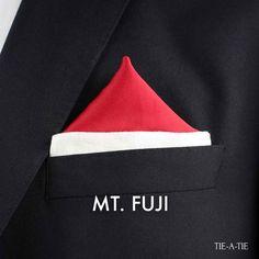 MT Fuji Pocket Square Fold