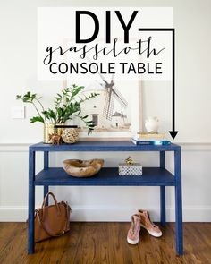 DIY Grasscloth Table {Console Table. Large NightstandsDiy Home Decor ...