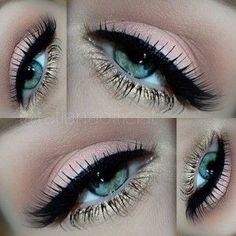 Eye Makeup Tips.Smokey Eye Makeup Tips - For a Catchy and Impressive Look Gold Eye Makeup, Blue Makeup, Eye Makeup Tips, Makeup Goals, Skin Makeup, Makeup Inspo, Makeup Inspiration, Makeup Ideas, Makeup Tutorials