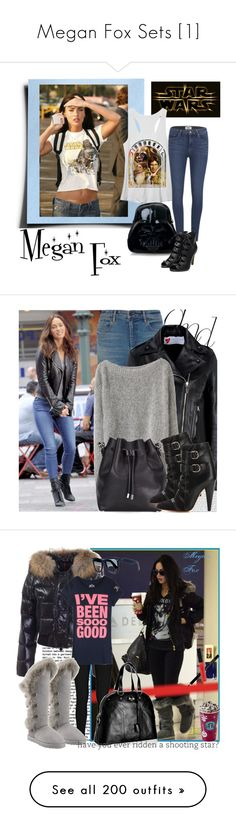 """Megan Fox Sets [1]"" by grandmasfood ❤ liked on Polyvore featuring Paige Denim, Loungefly, jeans, starwars, meganfox, Oris, Alexander Wang, Valentino, VPL and Proenza Schouler"