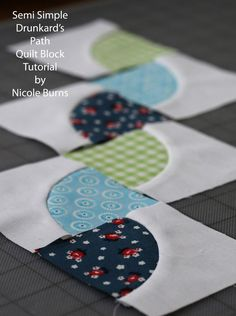 Today I wanted to share with you a tutorial for an easier way to make  a drunkard's path block. I love the drunkard's path pattern but al...