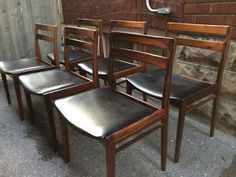 6 DANISH ROSEWOOD DINING CHAIRS Mid Century Modern Not Teak City Of Toronto