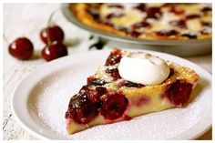 I raised my family in the cherry capital of the world, how come I've never seen this recipe?!      Bing Cherry Clafouti with Sweet Almond Cream
