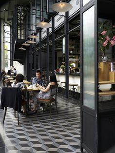 Cafe in kuala lumpur, tiles - from Marjon Hoogervorst Deco Restaurant, Thai Restaurant, Restaurant Design, Restaurant Facade, Restaurant Concept, Restaurant Ideas, French Cafe, French Bistro, Cafe Bistro