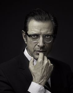 Jeff Goldblum by Matt Carr. One of my fav actors. There's just something about him...