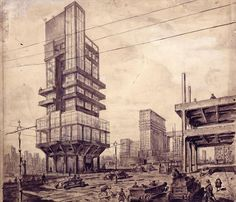 "Lev Rudnev, ""City of the Future"", 1927"