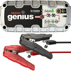 With a Noco battery charger you'll have one of the most advanced, smart on board battery chargers in the world. Check out Noco Genius battery chargers HERE. Best Battery Charger, Automatic Battery Charger, Portable Charger, Charger 2015, Tractor Battery, Battery Clamp, Lead Acid Battery, Flashlight, Software