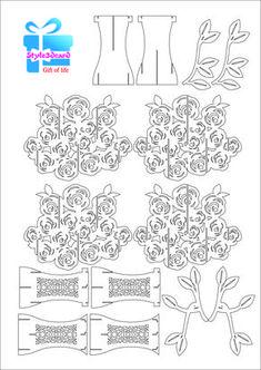 Rose pattern kirigami 2