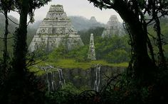 underground fantasy for your pleasure Jungle Temple, Planet Coaster, Ancient Buildings, Ancient Ruins, Stone Work, Past, Concept Art, Scenery, Architecture