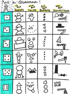 Roll a Dice: Snowman Music Idea for LDS Primary