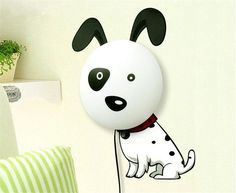 Cheap Wallpaper Zebra, Buy Quality Sticker Wallpaper Directly From China  Wallpaper Suppliers: 2015 Hot Dog Pig LED Wall Lamp Light DIY Wall Stickers  ...