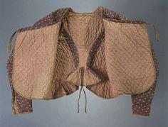 Caraco en toile imprimée matelassée 1770-1790 Museon Arlaten
