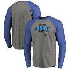 Orlando Magic Fanatics Branded Primary Logo Raglan Long Sleeve T-Shirt - Heathered Gray - $39.99