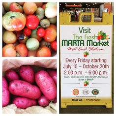 We are so excited for the soft opening of the #martamarket in partnership with Food Oasis, @communityfarmersmarkets and SWAG Co-op. Located at the West End MARTA station we will be here every Friday! Grand opening will be next week, Friday July 17th, 2pm-6pm. See you at the market!