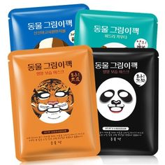 Animal Face Mask Deep Moisturizing Sheet Mask Oil Control Brighten Skin Mask For Woman Panda Tiger Bioaqua Korean Facial Masks Face
