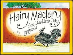 Hairy Maclary From Donaldsons Dairy Book by Lynley Dodd. Hairy Maclary goes off for a walk with a few of his friends - and comes up against a nasty surprise in the shape of Scarface Claw! My favourite character is Schnitzel Von Krumm! Best Children Books, Childrens Books, Young Children, Children Songs, Toddler Books, Books To Read, My Books, History Online, Thing 1
