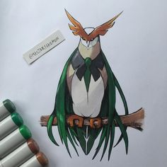 Rowlet final evolution concept by @masterfakemon