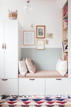 Girls Bedroom Storage, Shelves In Bedroom, Playroom Storage, Girls Bedroom Ideas Ikea, Ikea Hack Kids Bedroom, Ikea Kids Storage, Ikea Bedroom Design, Wall Storage, Bedroom Organization