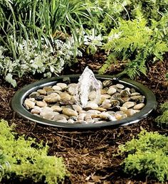 Solar power -                                                      Pebble Fountain